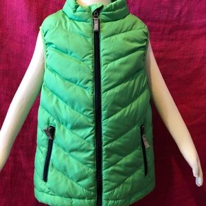 Hanna Andersson Green Puffer Vest -130 (8)